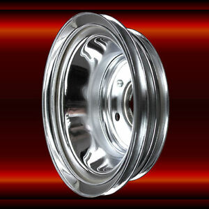 Crankshaft Pulley 3 Groove For Big Block Chevy 396 427 454 Lwp Chrome