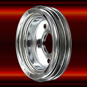 Chrome Crankshaft Pulley For 396 427 454 Big Block Chevy Engines With Short Wp