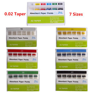 Dental Absorbent Paper Points 0 02 Taper 15 40 For Root Endo Use 200pcs box