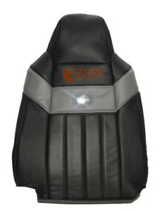 2004 2007 Ford F250 Harley Davidson Driver Lean Back Leather Seat Cover Black