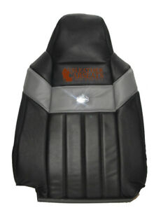 2006 2007 Ford F350 Harley Davidson Driver Lean Back Leather Seat Cover Black