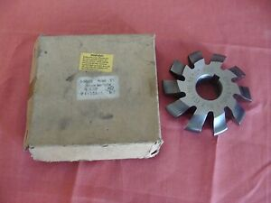 New Old Stock Unkown Mfg Involute Gear Cutter 4 Dp 14 5 Pa No 7 bore 1