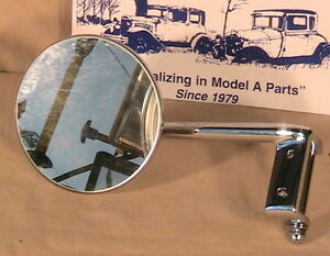 1930 1931 Model A Ford Ratrod Streetrod Lh And Rh Door Hinge Pin Mirrors A Pair