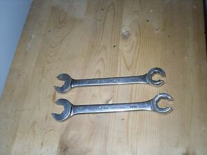 Matco Lot Of 2 Combination Open End Flare Nut Line Wrenchs 1 2 9 16 Sae Usa