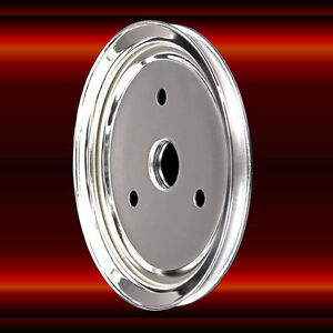 Crankshaft Pulley Single Groove For Small Block Chevy 283 327 350 Swp Chrome Sbc