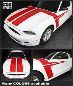 Ford Mustang 2013 2014 Hood And Side Accent Stripes Decals Choose Color