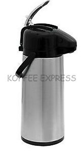 Airpot W Lever Glass Lined Stainless Steel Body Black Lid Update Int l