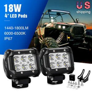 Nilight Led Lights Bar 2pcs 18w Spot Driving Fog Light Off Road 2 Years Warranty