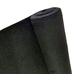 5 Yards Black Upholstery Un backed Trim Automotive Carpet 40 x 15ft Durable Roll