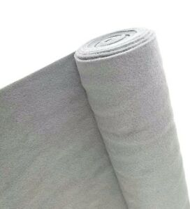 5 Yards Light Gray Upholstery Un backed Trim Automotive Carpet 40 x 15ft Roll Uv