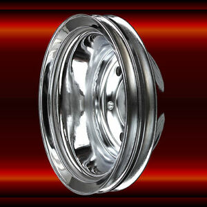 Chrome Crankshaft Pulley For Sb Chevy 2 Groove Sbc 327 350 383 400 Engines
