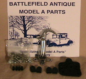 1928 And 1929 Model A Ford Ratrod Streetrod Stainless Steel Hood Latch Kit