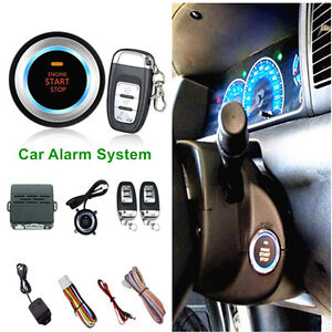 Car Alarm System Security Vibration Alarm Ignitionengine One Button Start Remote