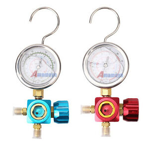 1 4 High low Pressure Single Manifold Gauge Valve Fits R22 R134 R410a A c Hose