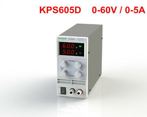 Kps605d Variable Linear Adjustable Lab Dc Bench Power Supply 60v 5a
