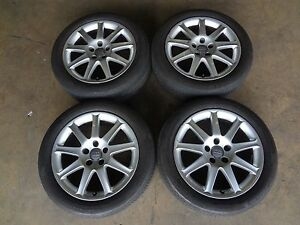 Used Audi 5 Lug Wheels 17 Alloy Audi Rims Tires 5x114 3 7 5x17 Center Caps