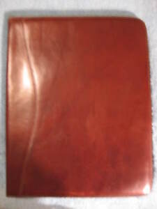 Scully Italian Leather Letter Writing Pad Dark Brown Display Sample Nos