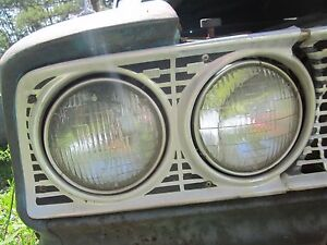 63 Ford Galaxie Right Passenger Headlight Bezel Trim Surround Grille 1963
