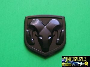 Dodge Ram Head Black Matte Charger Emblem Badge Rear Trunk 2006 2010 Mopar New