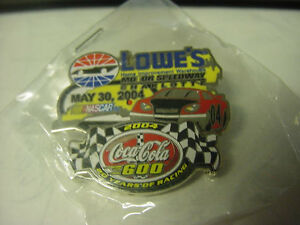 Coca-Cola 600  May 30  2004  Charlotte / Lowes track Hat Pin  (20 years racing)