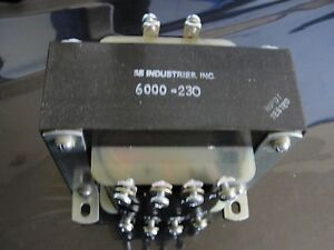6000 230 3s Industries High Voltage Transformer