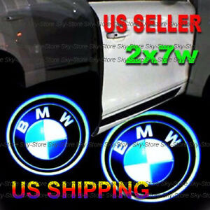 2x7w Ghost Shadow Laser Logo Projector Led Door Step Light Courtesy Fits Bmw