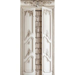 Wall Covering Velvet Decor Double Doors With Haussmann Bookshelves Koziel