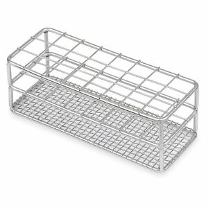 Stainless Steel Test Tube Rack 25mm 24 Place Karter Scientific 234o3