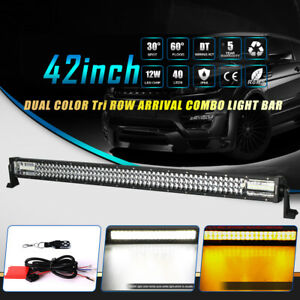 Philips 42inch 2592w Tri row Led Work Light Bar Car Driving Lamp Offroad 44 40