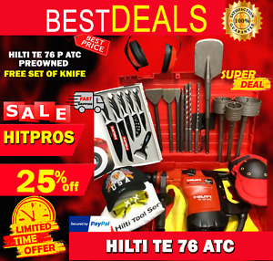 Hilti Te 76 atc Preowned Free Set Of Knife Bits A Lot Of Extras Fast Ship