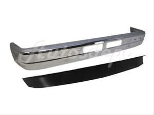 For 1989 1992 Ford Ranger Front Bumper Face Bar Chrome W Pad Hole Valance Apron