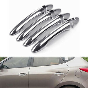 Fit For Hyundai Tucson Ix35 Chrome Door Handle Cover Trim 2010 2011 2012 2013