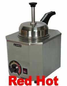 New Paragon Nacho Cheese Warmer With Heated Pump Spout Holds A 10 Can 2028d