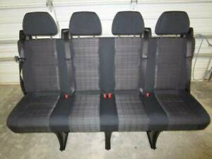 14 18 Mercedes Benz Sprinter Van 4 passenger Black Cloth Rear Bench Seat