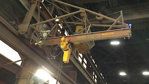 Ederer Traveling Jib Crane 16 Long Harrington 5 Ton Chain Hoist Wireless Rmt