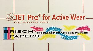 Inkjet Transfer Paper For White Fabric jet Pro Active Wear 8 5 x11 250 Ct