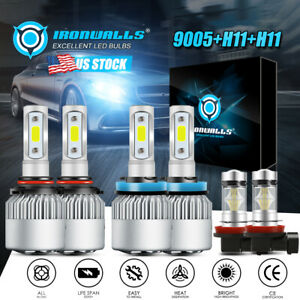 9005 h11 h11 Total 4500w Ironwalls Led Headlights High Low Beam fog Light Bulbs