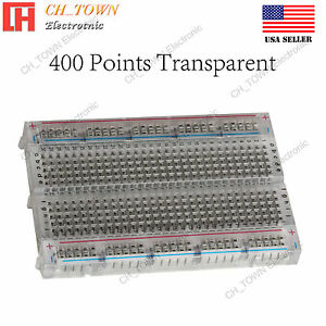 400 Tie Point Solderless Pcb Mb 102 Mb102 Transparent Breadboard For Arduino Usa