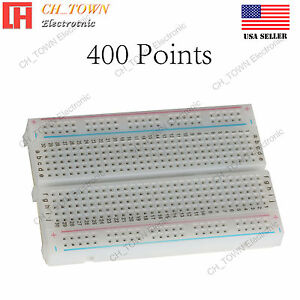 400 Tie Point Solderless Pcb Mb 102 Mb102 Breadboard For Arduino Test Diy Usa