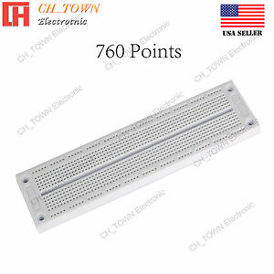 760 Points Solderless Pcb Syb 130 Breadboard For Arduino Test Diy Experiment Usa