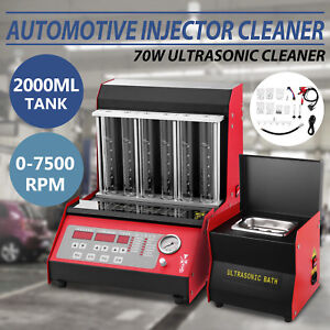 Tq 6c Fuel Injector Cleaner Tester W cleaning Tank Injection Testing Ultrasonic
