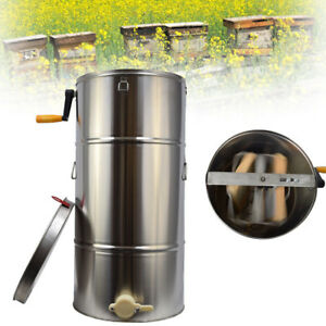 Pro Two 2 Frame Honey Extractor Beekeeping Equipment Stainless Steel from Usa
