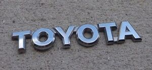 Toyota Trunk Emblem Badge Decal Logo Chrome Rear Camry Corolla Prius Oem Stock