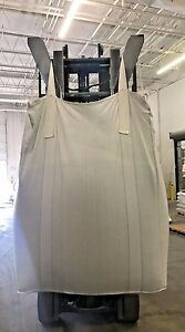 New Fibc Bulk Bag 35 X 35 X 47in 1998 pallet 200bags Top