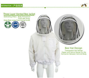 Jacket Beekeeping Bee Veil Suit Smock Keeping Xl Professional Protective New