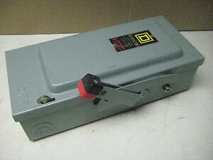 Square d Hu361 Heavy Duty Safety Switch Breaker Box 30 Amp 30hp 3p