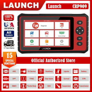 Launch X431 Crp909 Obd2 Auto All System Diagnostic Scanner Tablet Immo Tpms Abs