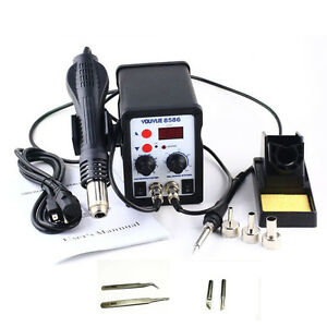 2in1 Smd Rework Soldering Station Solder Iron Welder Hot Air Gun Welding Repair
