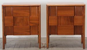 Edmond Spence Pair Bedside Tables Or Nightstands 1960 S