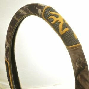 Browning 2 Grip Camouflage Steering Wheel Cover Mn 8676 Excellent Condition